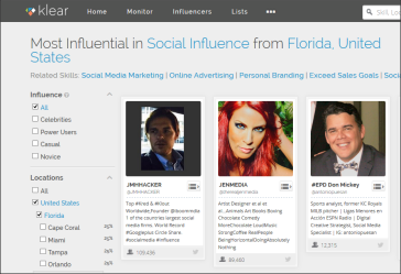 Top social media influence in the USA